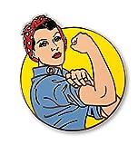 Pinsanity Rosie The Riveter Enamel Lapel Pin