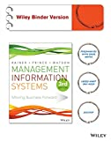 img - for Management Information Systems 3e Binder Ready Version + WileyPLUS Learning Space Registration Card book / textbook / text book