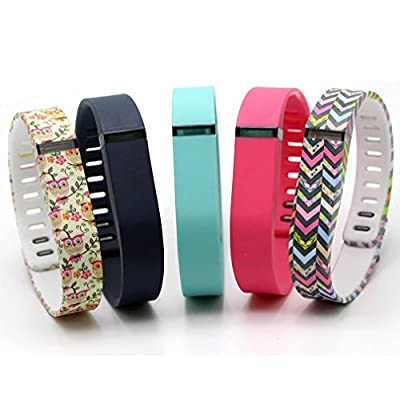 2015 Latest Band Set For Fitbit Flex, Replacement bands Set, Water Transfer Printing Set With Metal Clasps for Fitbit Flex Activity Tracker(Large)¡