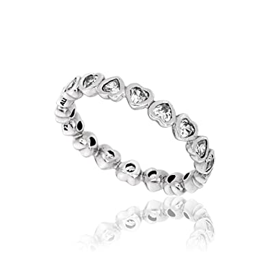 ce5b2f353 Image Unavailable. Image not available for. Color: Pandora Forever More Stackable  Silver Ring 190897CZ58