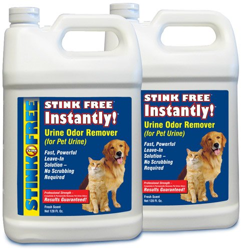 STINK FREE Instantly Urine Odor Remover for Pet Urine, 2 128-Oz (2 1-Gallon Jugs), My Pet Supplies
