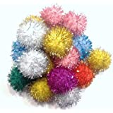 Sparkle Ball Cat Toy - 10 Pack - 1""