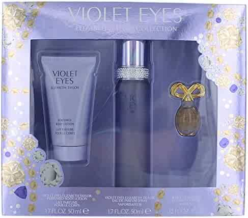 Women's Violet Eyes by Elizabeth Taylor Fragrance Gift Set - 3 pc