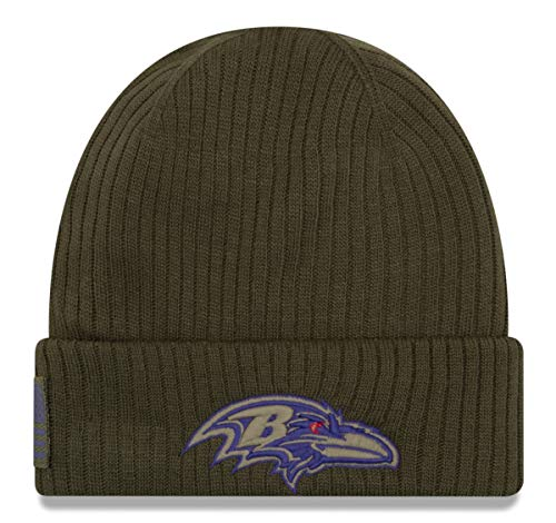 (New Era 2018 Mens Salute to Service Knit Hat (Baltimore Ravens) )