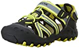 Geox J Kyle 5 Sandal (Toddler/Little Kid/Big Kid), Black/Lime Green, 35 EU (3.5 M US Big Kid)