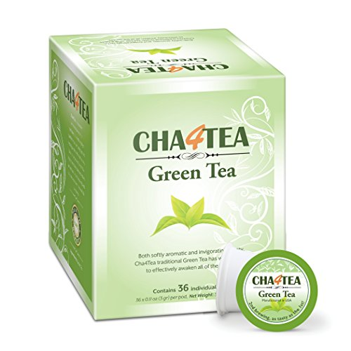 Cha4TEA Keurig K-Cup Green Tea, 36 Ct K Cups