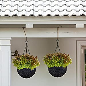 Nahuaa 4PCS Artificial Plants Outdoor Fake Greenery Bush Faux Plastic Shrubs Indoor Outside Table Centerpieces Arrangements Home Kitchen Office Windowsill Spring Decorations 2