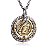 Virgo Zodiac Sign Astrology Pendant Necklace - August and September Birthday Gifts