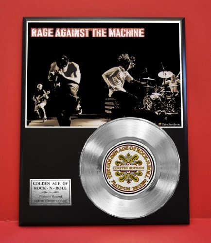 Rage Against The Machine Limited Edition Non Riaa Platinum Record Display - Award Quality Music Memorabilia Wall Art - from Gold Record Outlet
