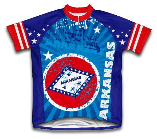 Arkansas Cycling Jersey - ScudoPro Arkansas Short Sleeve Cycling Jersey for Men - Size XL Blue