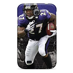 NataliaKrause Samsung Galaxy S4 Shock-Absorbing Hard Phone Cover Unique Design Attractive Baltimore Ravens Image [nie12818gOPm]