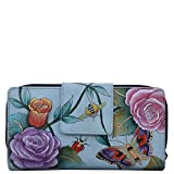 Anuschka Hand Painted Leather Women's Organizer Clutch Wallet (Roses D'Amour 1120 RDM)