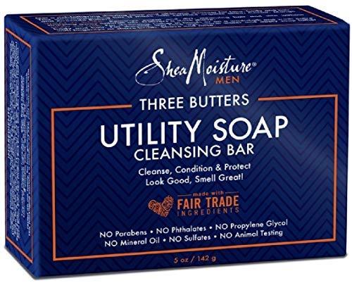 Shea Moisture Men's Utility Soap, 5 Ounce (5 Pack) (Best Shea Butter Soap)