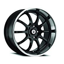 Konig Lightning Gloss Black Wheel with Machined Lip (Dual Drilled 16X7 / 5x100mm and 5x114.3mm)