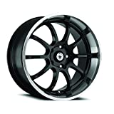 04 mazda 6 lip - Konig Lightning Gloss Black Wheel with Machined Lip (Dual Drilled 16X7 / 5x100mm and 5x114.3mm)