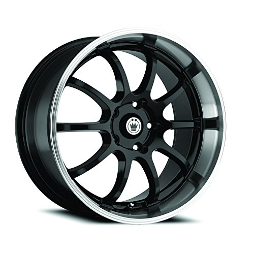 Konig Lightning Gloss Black Wheel with Machined Lip (17x7