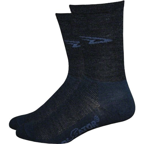 High Top Bike Sock - DeFeet WoolEator HiTop Sock: Black; LG