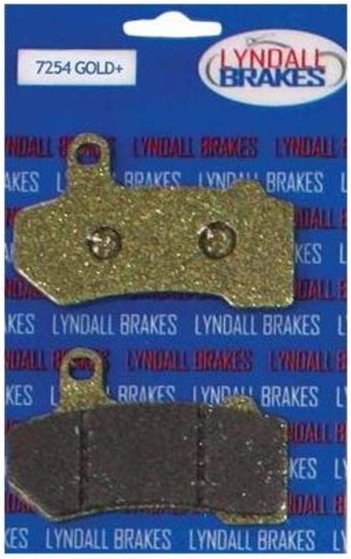 Limited time sale Lyndall Racing Brakes Gold 7254 Brake Pads New arrival Plus