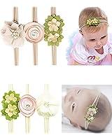 CN Baby Girls Floral Headbands Nylon Flowers...