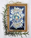 Catholic Christmas Card, Holy Family with St Andrew Novena Prayer Art, Christian Christmas Card, Messianic, Advent, Decor, Purple Yellow