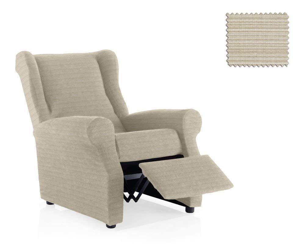 JM Elastic recliner cover Moraig 1 seater size (Standard), Ivory Colour (more colours available) JM Textil