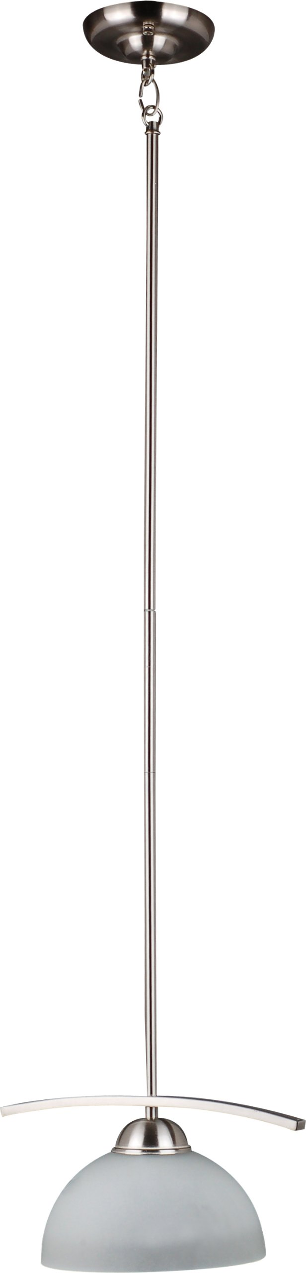 Whitfield CH107-6PAWSS Mickayla 12-Inch One-Light Pendant, Satin Steel with Acid Wash Glass