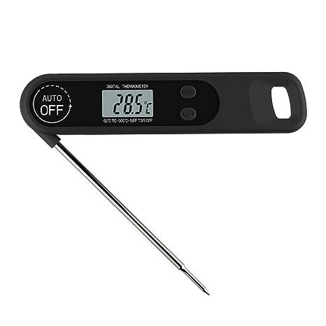 SODIAL Sonda termometro Plegable Electronica de Cocina termometro de Alimentos termometro de Barbacoa asado