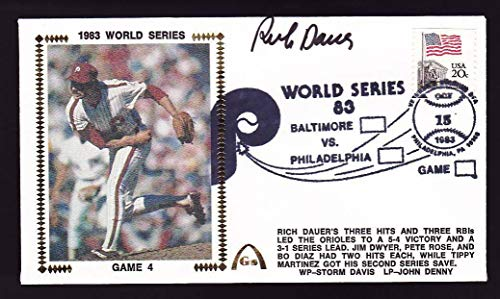 Rich Dauer Signed 1983 World Series Game 4 Gateway Cachet FDC Cover - PSA/DNA Certified - MLB Cut Signatures
