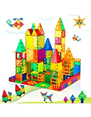 Compatible Magnet Toys for 3 Year Old Boys and Girls Magnetic Blocks Building Tiles STEM Learning Toys Montessori Toys for Toddlers Kids - 52pcs Starter Set