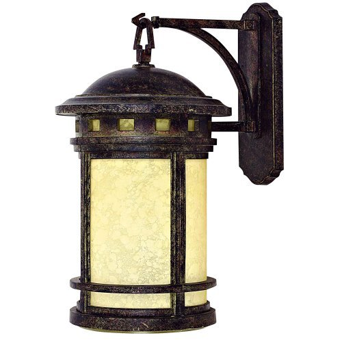 Yosemite Home Decor FL1025DN7 Sahara Collection 1-Ligth Fluorescent Exterior Wall Sconce with Frosted Glass