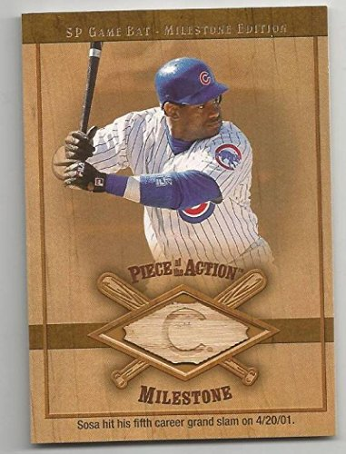 (Baseball MLB 2001 Upper Deck Piece of the Action Milestone Game Bat #M-SS Sammy Sosa #M-SS NM MEM)