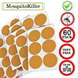 JUSHOOR Kid with Natural Ingredients 24-Hour Protection Mosquito Patch 3cm Resealable,60-Count Pack, Non-Toxic, Apply to Skin and Clothes, Adult