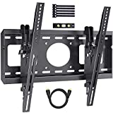 Advanced Tilting TV Wall Mount Bracket with Low Profile Design for Most 26-55 Inch LED, LCD, OLED, Curved, Plasma Flat Screen TVs - 15 Degrees Tilt Mounting Bracket with VESA 400x400mm by PERLESMITH (Renewed)