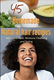 45 Homemade Natural Hair Care Recipes (For Hair growth, moisture, cleansing and styling)