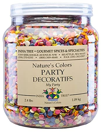 India Tree Nature\'s Colors My Party Decoratifs Jar, 2.4 Pound ...