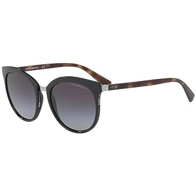 Emporio Armani Damen Sonnenbrille 0EA2055 30108G, Schwarz (Black/Gradient), 55