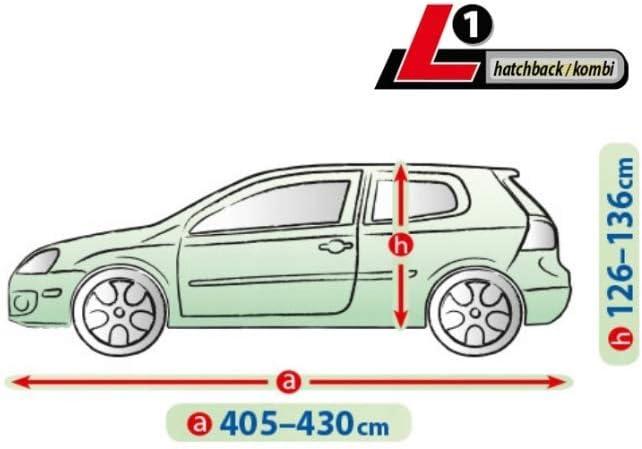 Abdeckplane Autoabdeckung Frostschutz Schneeschutz Wasserdicht Mobile L1 kompatibel mit Dacia Sandero I II ab 2008 universal