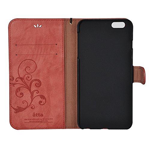 iPhone 7 Case, CORNMI Retro reticolo della copertura del telefono chiusura magnetica del raccoglitore di vibrazione del cuoio della cassa Premium Vintage con slot per schede, contanti Vano, staccabile