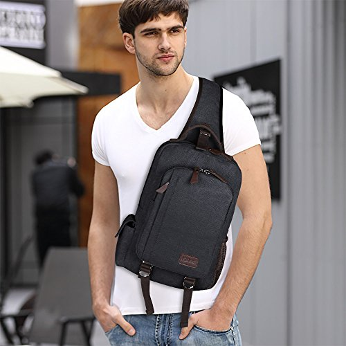 S-ZONE Sling Bag for Men Chest Shoulder Gym Backpack Sack Satchel Outdoor Crossbody Pack