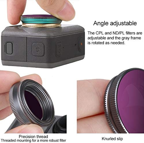 OSMO Pocket Accessories Hyx 6 in 1 OA-FI178 MCUV+CPL+ND4+ND8+ND16+ND32 Lens Filter for DJI OSMO Action