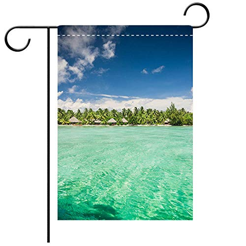 BEICICI Artistically Designed Yard Flags, Double Sided Aitutaki Island Beach Resort Cook Islands Best for Party Yard and Home Outdoor Decor