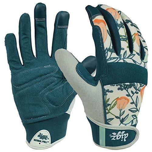 Digz Women's Medium Fabric Gardener Touchscreen Gloves