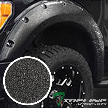 Mifeier Fender Flares ABS Pocket Rivet Clip-In For 04-08 F150 Styleside Black 4pcs