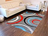 Modern Area Rug Design # ST 605 Gray (8 Feet X 10 Feet 6 Inch) Review
