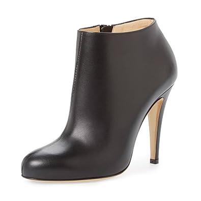 4485bb9df0 FSJ Women Fashion Almond Toe Booties Stiletto High Heels Ankle Boots Comfy  Shoes Side Zipper Size