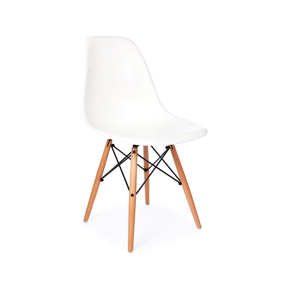 Amazon com eames replica dsw mid century modern dining chair white chairs
