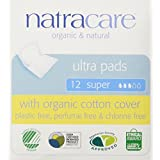 Natracare Ultra Pads with Wings Super, 12 Count
