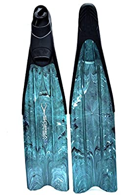 Sopras Sub X-Race Camo Green Freediving Long Fins Size XXL (14-15) Scuba Diving Free Diving Apnea Fin Dive