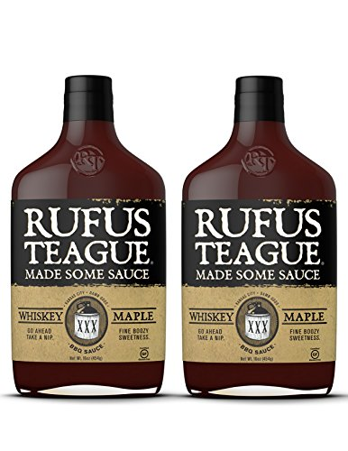 Rufus Teague WHISKEY MAPLE BBQ SAUCE - (2 Pack) 16oz Bottles