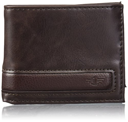 dockers-mens-extra-capacity-slimfold-wallet-with-two-tone-leather-brown-one-size